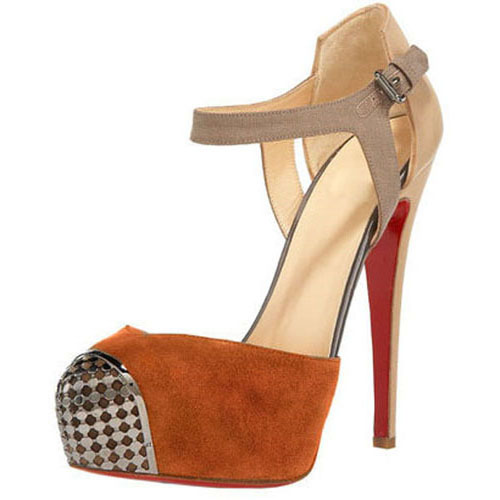 Christian Louboutin D'orsay Boulima Exclusive 120mm Brown Sandalen