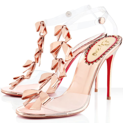 Christian Louboutin Bow Bow Sandalen 100mm Rose