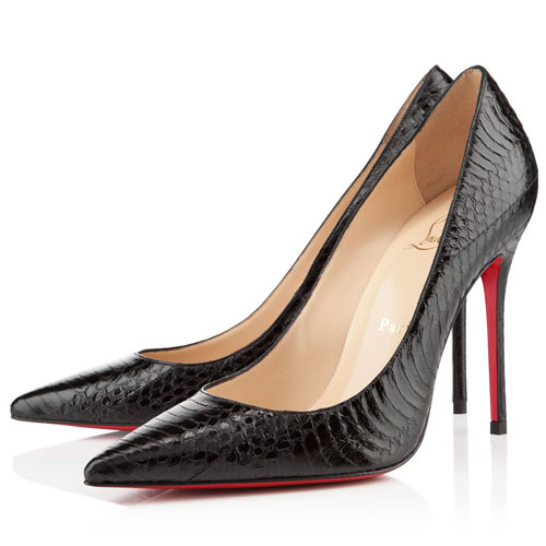 Christian Louboutin Decollete 554 100mm schwarze Pumps