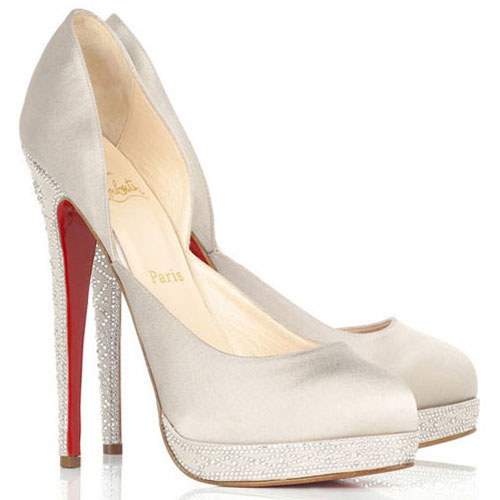 Christian Louboutin Pumps Eugenie 120mm Wei?
