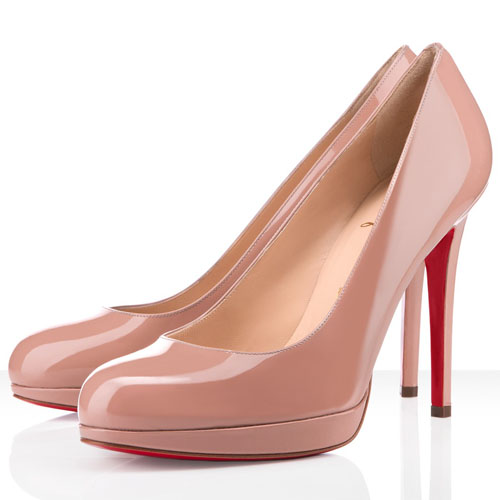 Christian Louboutin neue einfache 120mm Nude Pumps