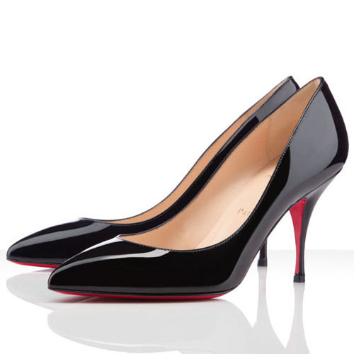 Christian Louboutin Piou Piou 80mm schwarze Pumps