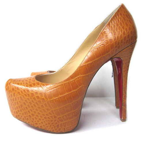 Christian Louboutin 160mm Schuhe In Brown Plateau