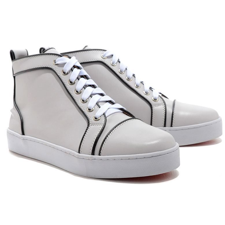Christian Louboutin Louis Jeweled High Top Sneakers Wei?