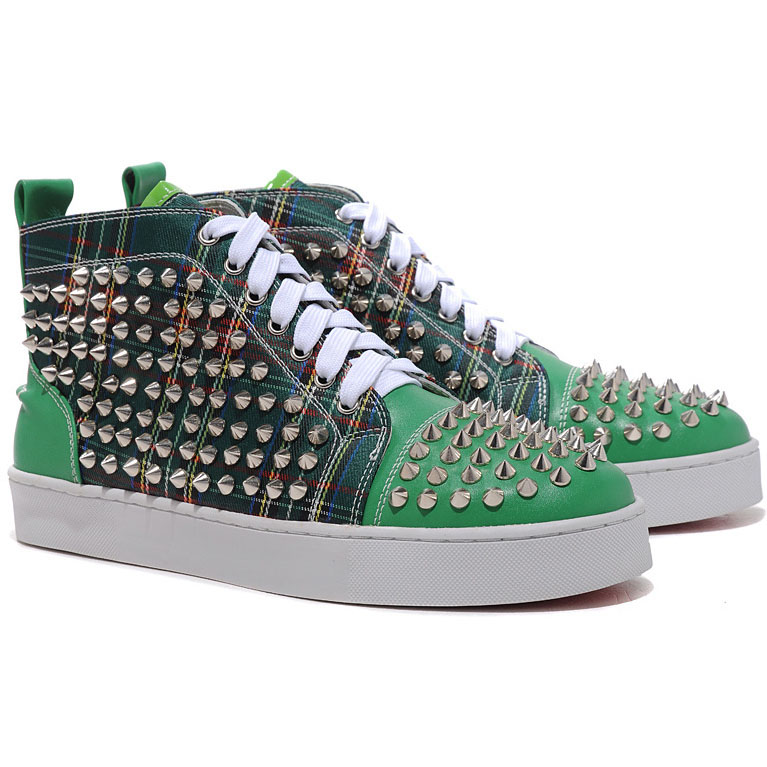 Christian Louboutin Louis Spikes High Top Sneakers Gr