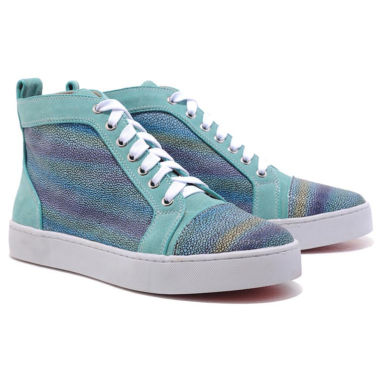 Christian Louboutin Louis Strass High Top Sneakers Multicolor