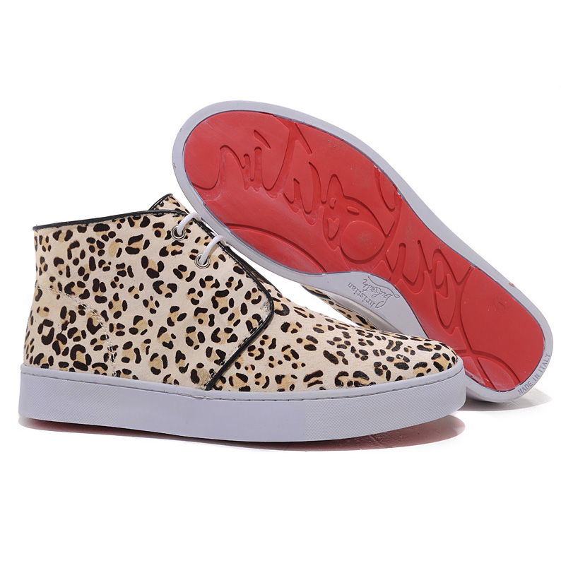 Christian Louboutin High Top Sneakers Leopard Rantus
