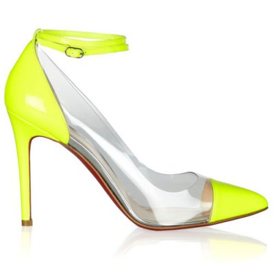 Christian Louboutin Bis A Bout 100mm Yellow Pumps